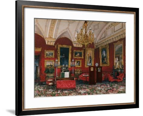 Interiors of the Winter Palace, the Study of Grand Princess Maria Nikolayevna, End of 19th C-Konstantin Andreyevich Ukhtomsky-Framed Art Print