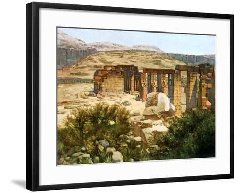 The Ramesseum, Thebes, Egypt, 20th Century--Framed Art Print