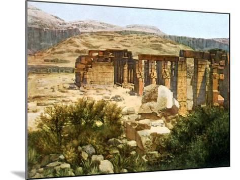 The Ramesseum, Thebes, Egypt, 20th Century--Mounted Giclee Print