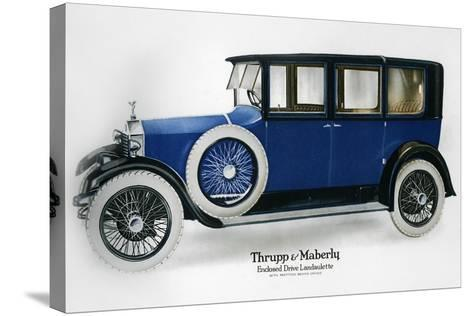 Rolls-Royce Enclosed Drive Landaulette with Partition Behind the Driver, C1910-1929--Stretched Canvas Print