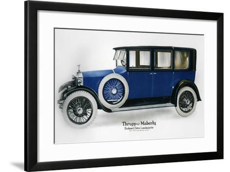 Rolls-Royce Enclosed Drive Landaulette with Partition Behind the Driver, C1910-1929--Framed Art Print