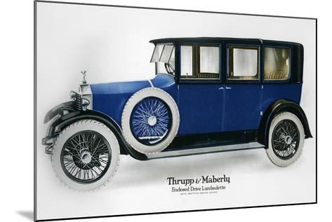 Rolls-Royce Enclosed Drive Landaulette with Partition Behind the Driver, C1910-1929--Mounted Giclee Print