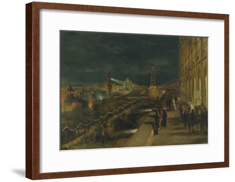 Illumination of Moscow on the Occasion of the Coronation of Emperor Alexander III-Nikolai Yegorovich Makovsky-Framed Art Print