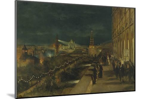 Illumination of Moscow on the Occasion of the Coronation of Emperor Alexander III-Nikolai Yegorovich Makovsky-Mounted Giclee Print