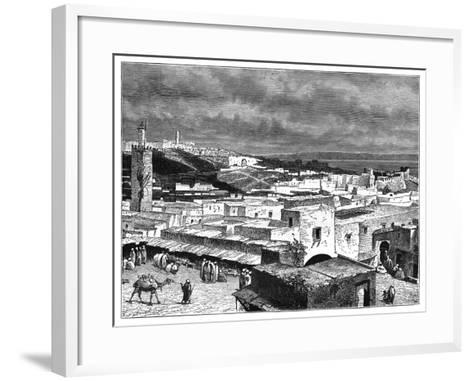 View of Tangier, Morocco, from the Landward Side, C1890--Framed Art Print