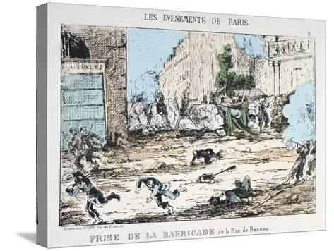 Fall of the Paris Commune, 1871--Stretched Canvas Print