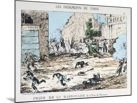 Fall of the Paris Commune, 1871--Mounted Giclee Print