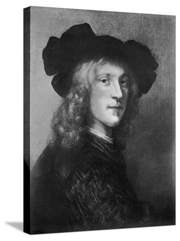 Head from the Portrait of a Man with a Hawk, 1643--Stretched Canvas Print