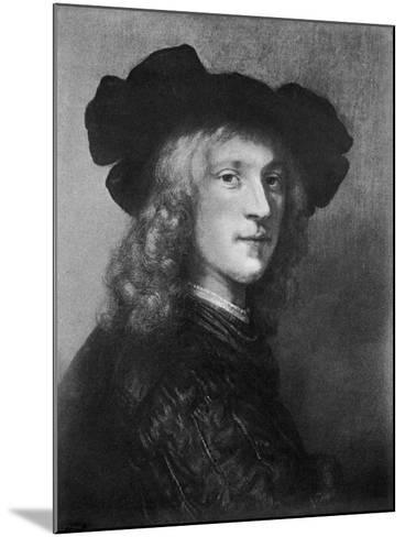 Head from the Portrait of a Man with a Hawk, 1643--Mounted Giclee Print