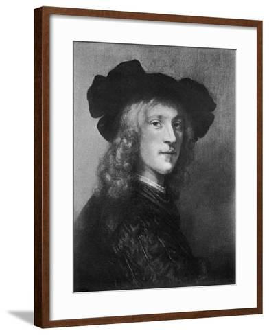 Head from the Portrait of a Man with a Hawk, 1643--Framed Art Print