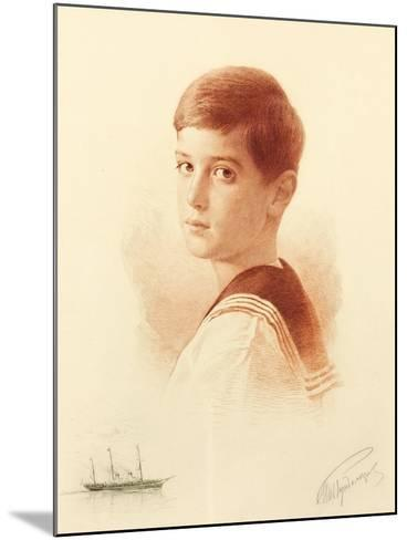 Portrait of the Successor to the Throne Tsarevich Alexei Nikolaevich of Russia, 1913-Mikhail Viktorovich Rundaltsov-Mounted Giclee Print
