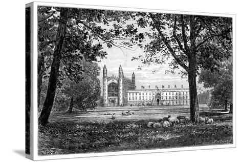 King's College, Cambridge, 1900--Stretched Canvas Print