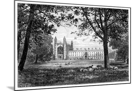 King's College, Cambridge, 1900--Mounted Giclee Print