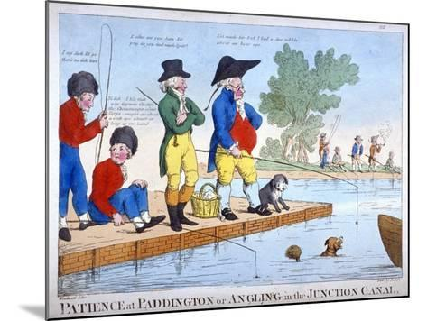 Patience at Paddington, or Angling in the Junction Canal, C1800-Roberts-Mounted Giclee Print