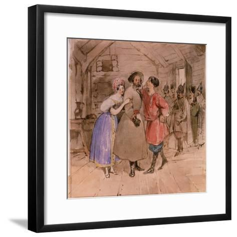 Scene from the Opera a Life for the Tsar (Ivan Susani) by M. Glinka, End 1830S-Grigori Grigorievich Gagarin-Framed Art Print