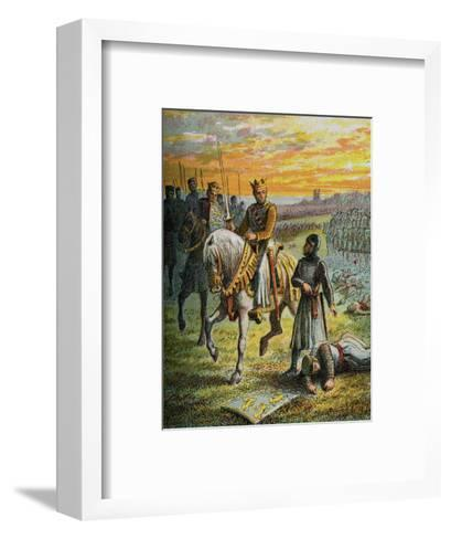 Henry III and the Barons--Framed Art Print