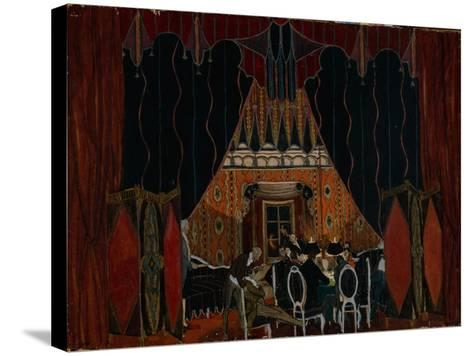 Stage Design for the Theatre Play the Masquerade by M. Lermontov, 1917-Alexander Yakovlevich Golovin-Stretched Canvas Print