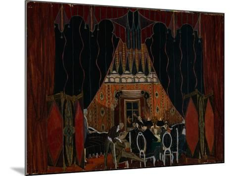Stage Design for the Theatre Play the Masquerade by M. Lermontov, 1917-Alexander Yakovlevich Golovin-Mounted Giclee Print