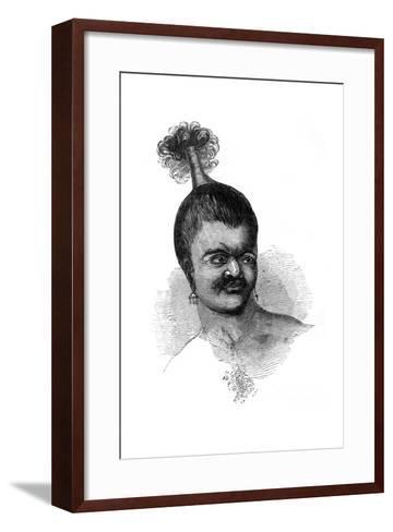 A Native of Omdai Island, 1848--Framed Art Print