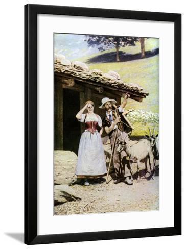 Natives of the Canton of Bern, Switzerland, C1924--Framed Art Print