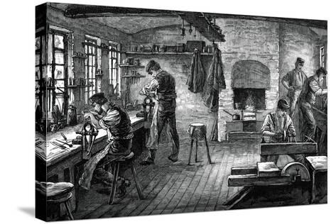 A Cutler's Shop, C1880--Stretched Canvas Print