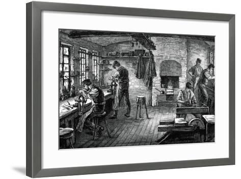 A Cutler's Shop, C1880--Framed Art Print