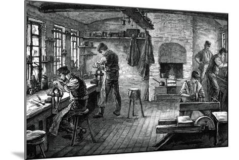 A Cutler's Shop, C1880--Mounted Giclee Print