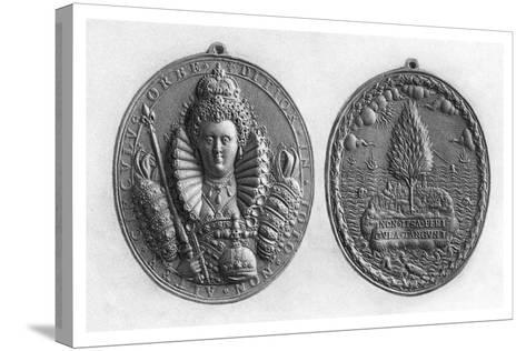 Queen Elizabeth I Medal, 16th Century--Stretched Canvas Print