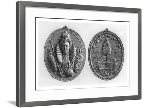 Queen Elizabeth I Medal, 16th Century--Framed Art Print