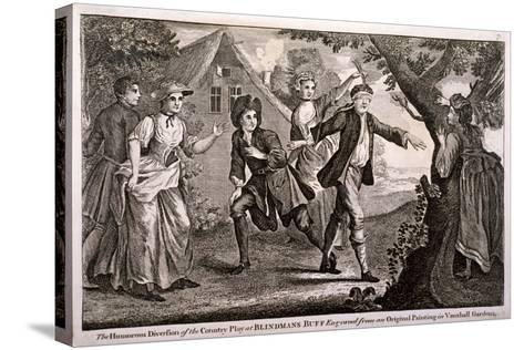 The Humorous Diversion of the Country Play at Blindmans Buff, Vauxhall Gardens, London, C1745-Francis Hayman-Stretched Canvas Print