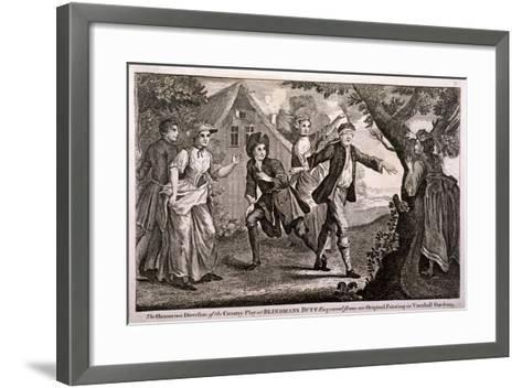 The Humorous Diversion of the Country Play at Blindmans Buff, Vauxhall Gardens, London, C1745-Francis Hayman-Framed Art Print