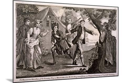 The Humorous Diversion of the Country Play at Blindmans Buff, Vauxhall Gardens, London, C1745-Francis Hayman-Mounted Giclee Print