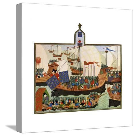 The Expedition of the French and Genoese to Barbary, 15th Century--Stretched Canvas Print