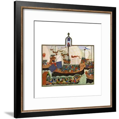 The Expedition of the French and Genoese to Barbary, 15th Century--Framed Art Print