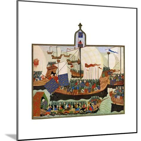 The Expedition of the French and Genoese to Barbary, 15th Century--Mounted Giclee Print