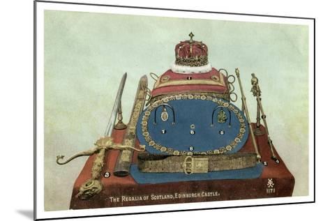 The Regalia of Scotland, Edinburgh Castle, 19th or 20th Century--Mounted Giclee Print