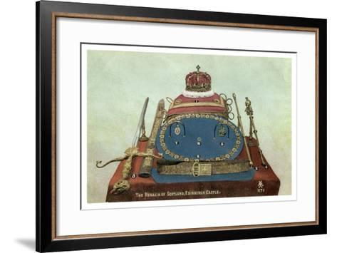 The Regalia of Scotland, Edinburgh Castle, 19th or 20th Century--Framed Art Print