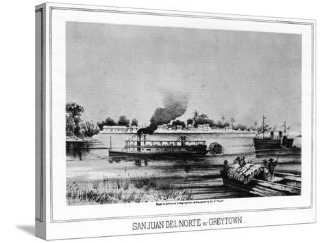 San Juan Del Norte (Greytow), California, 19th Century- Nagel & Schwartz-Stretched Canvas Print