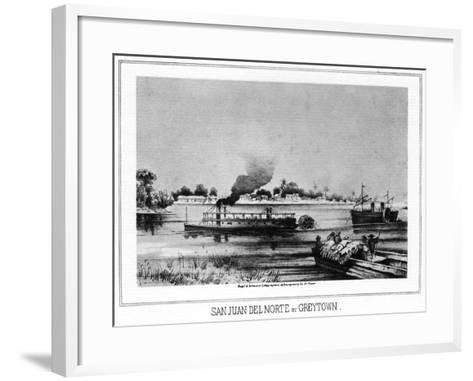 San Juan Del Norte (Greytow), California, 19th Century- Nagel & Schwartz-Framed Art Print