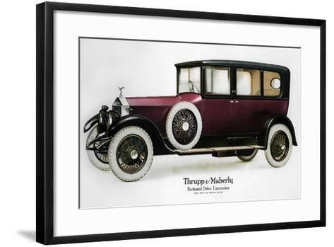 Enclosed Drive Rolls-Royce Limousine with Partition Behind the Driver, C1910-1929--Framed Art Print