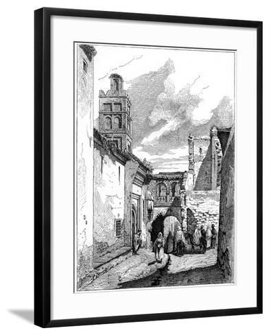 Street View in Tlemcen, Algeria, C1890--Framed Art Print
