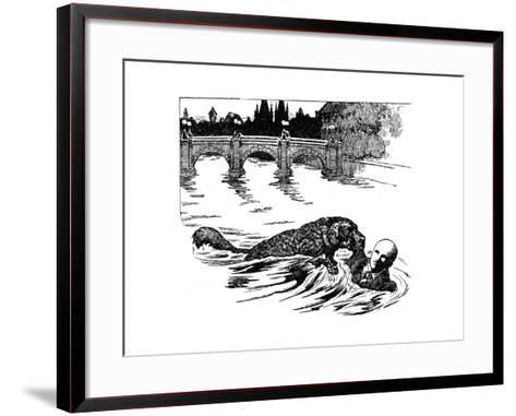 Police Dog Being Trained, 1907--Framed Art Print