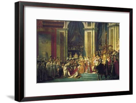 The Coronation of Napoleon at Notre-Dame De Paris on 2nd December 1804, 1807-Jacques Louis David-Framed Art Print