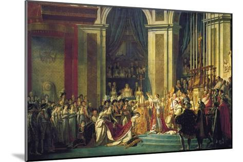 The Coronation of Napoleon at Notre-Dame De Paris on 2nd December 1804, 1807-Jacques Louis David-Mounted Giclee Print