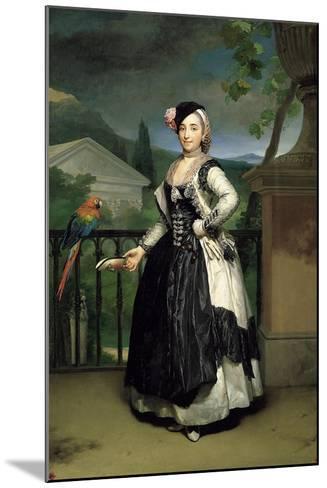 Portrait of Isabel Parreno Arce Ruiz De Alarcon Y Valdés, Marchioness of Llano-Anton Raphael Mengs-Mounted Giclee Print