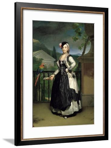 Portrait of Isabel Parreno Arce Ruiz De Alarcon Y Valdés, Marchioness of Llano-Anton Raphael Mengs-Framed Art Print