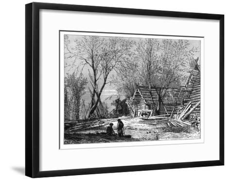 A Russian Village on the Banks of the Volga, C1890--Framed Art Print
