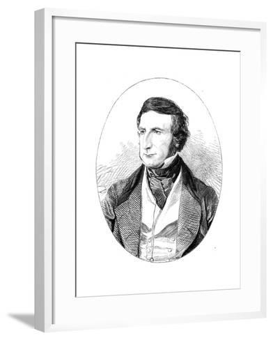 Sir George Cornewall Lewis (1806-186), British Statesman and Man of Letters--Framed Art Print