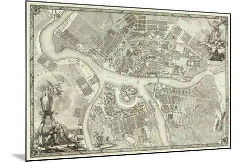 Map of Petersburg (Book to the 50th Anniversary of the Founding of St. Petersbur), 1753--Mounted Giclee Print