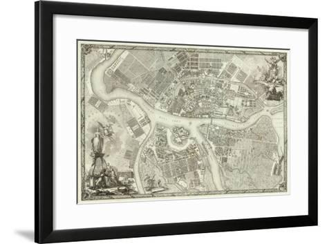 Map of Petersburg (Book to the 50th Anniversary of the Founding of St. Petersbur), 1753--Framed Art Print